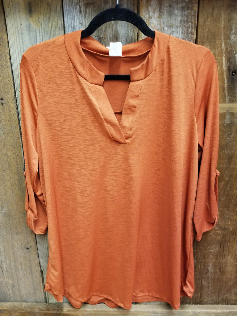 Rust Gabby Top