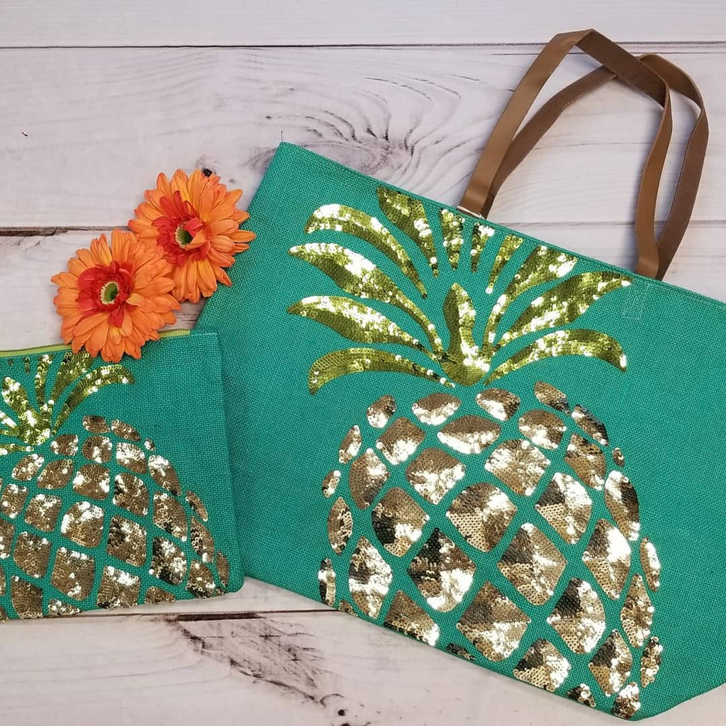 Summer Dazzle Pineapple Tote