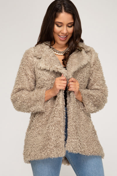 Taupe Teddy Jacket
