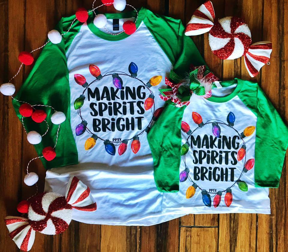 Kids Making Spirits Bright Tee