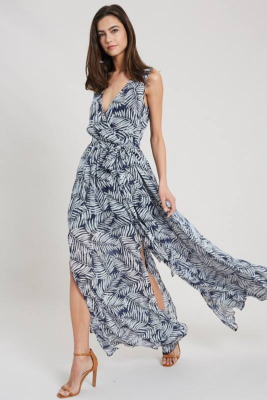 Navy Tropical Maxi