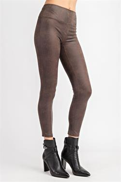 Brown Leather Leggings