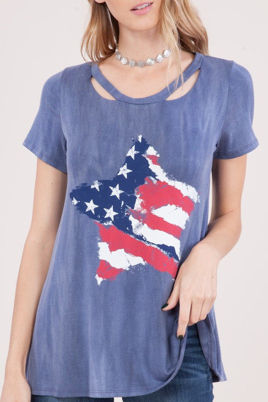 Americana Star Graphic tee
