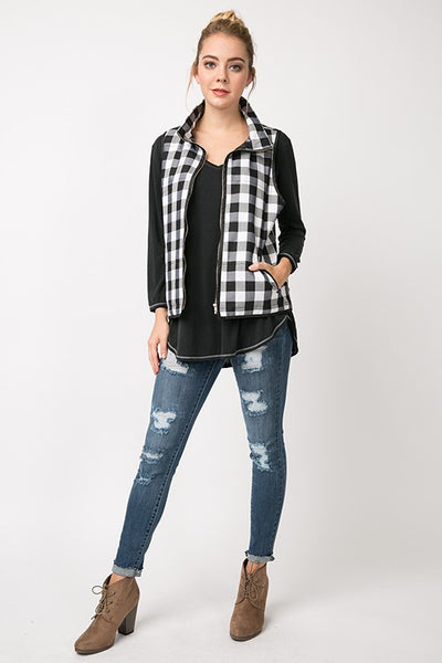 Black & White Checkered Vest