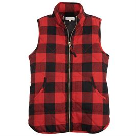 Buffalo Plaid Quilted Vest