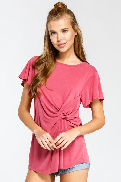 Deep Rose Twist Top