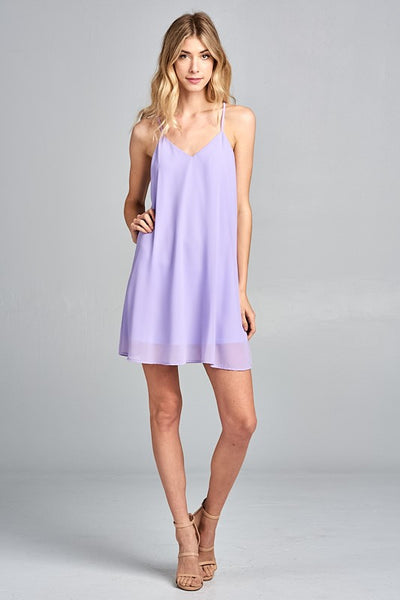 Lilac Spaghetti Dress