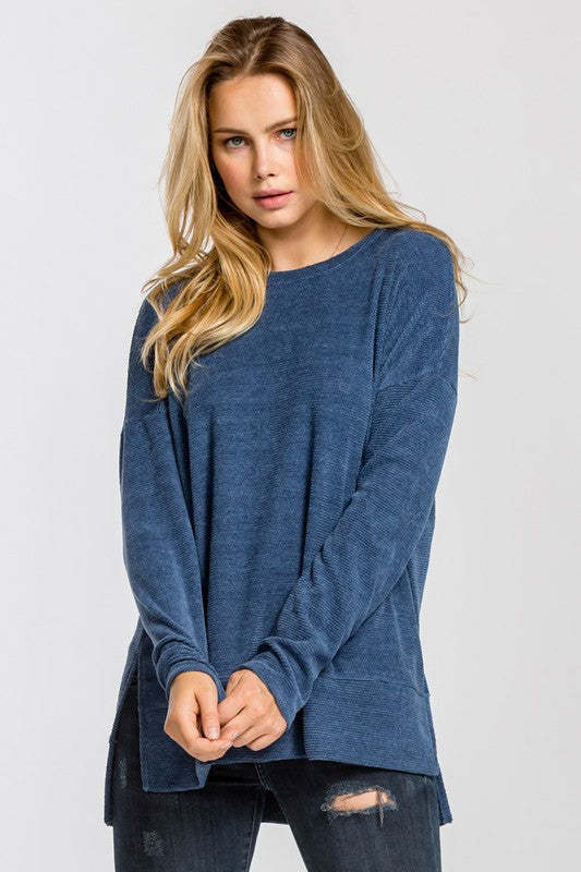 Blue Chenille Tunic