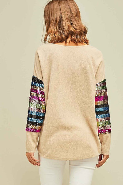 Mult Color Sequin Sweater
