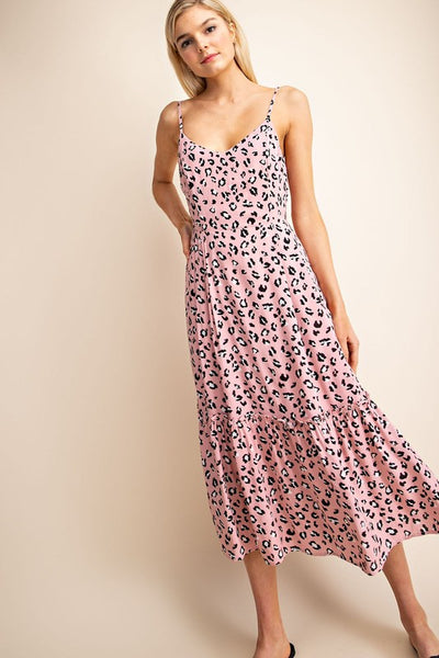 Blush Leopard Dress