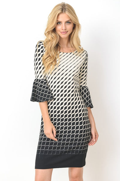 Black Abstract Dress