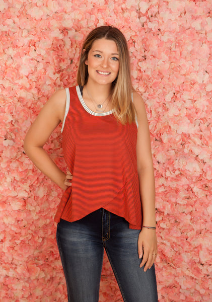 Scarlet Double Layered Tank