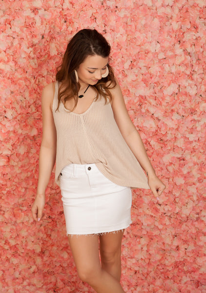 Taupe Tie Back Tank