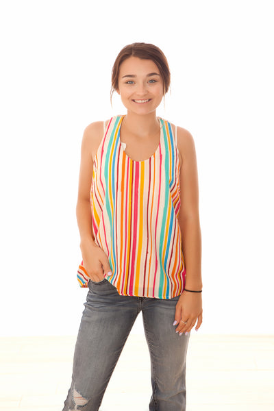 Fall Stripes Racerback