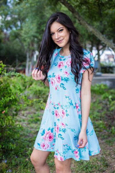 Mint Floral KC Dress
