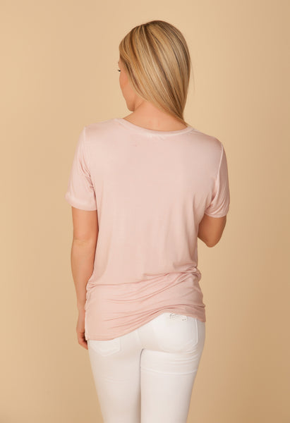 Dusty Pink Pocket Tee