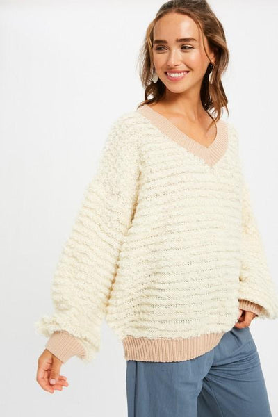 Cream Shearing Sweater