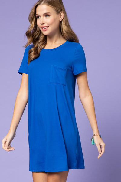 Royal T-shirt Dress