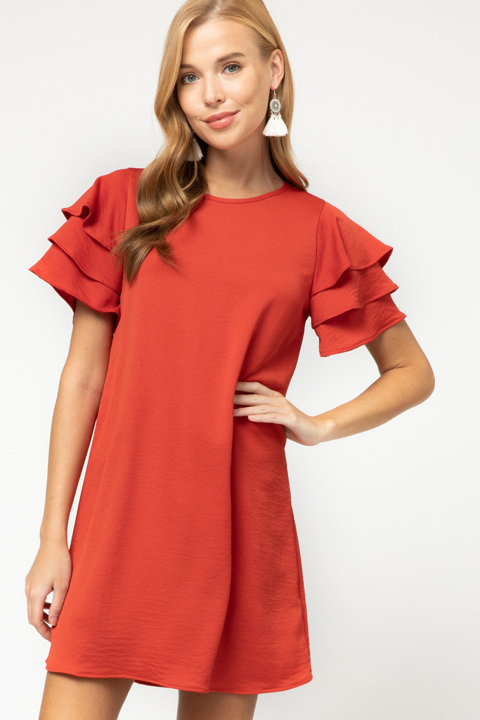 Scarlet Ruffle Dress