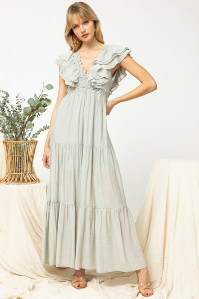 Sage Tiered Maxi