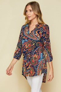 Fall Print Bulgari Top