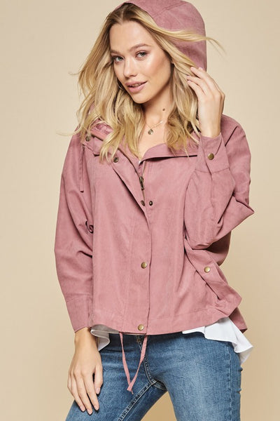 Mauve Open Front Jacket