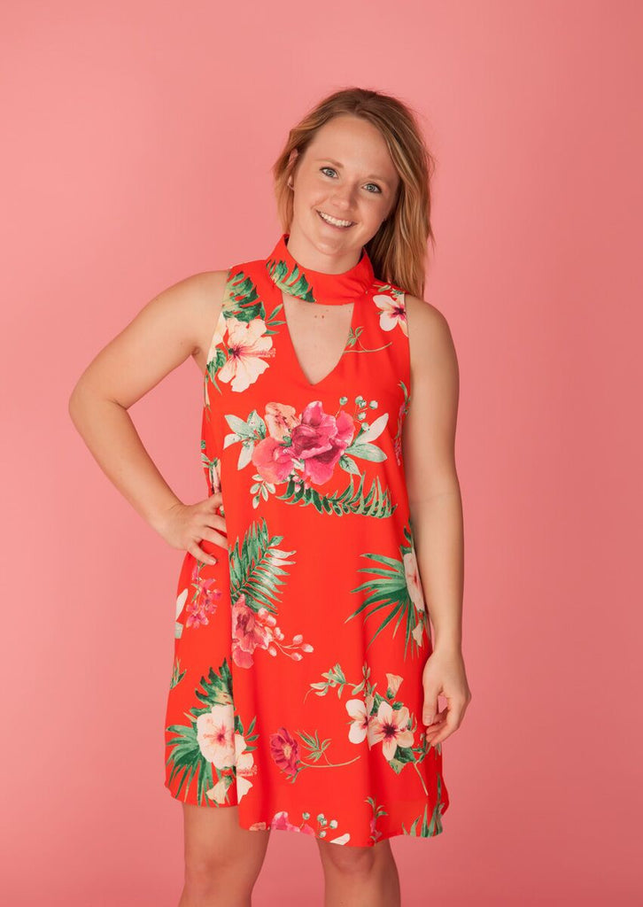 The Red Tropical Paradise Dress
