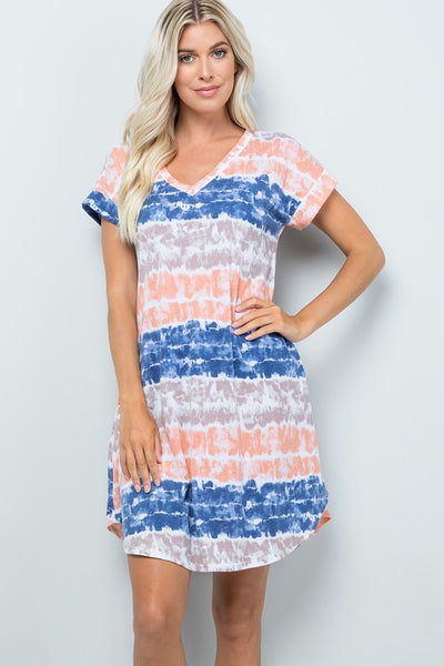 Ink Blue Tiedye Dress