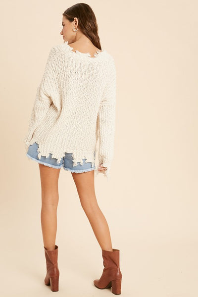 Natural Distressed Sweater