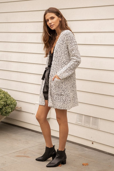 Two Tone Textured Cardigan