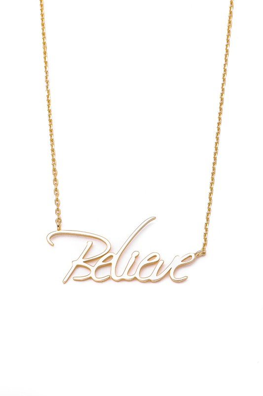 Sterling Believe Necklace