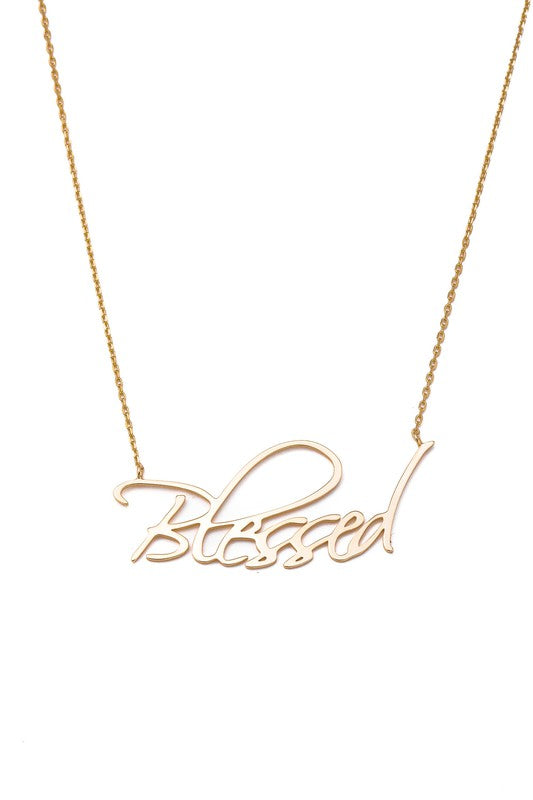 Sterling Blessed Necklace