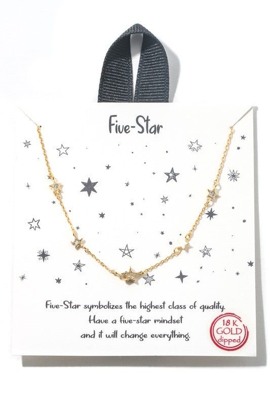 Five Star Necklace