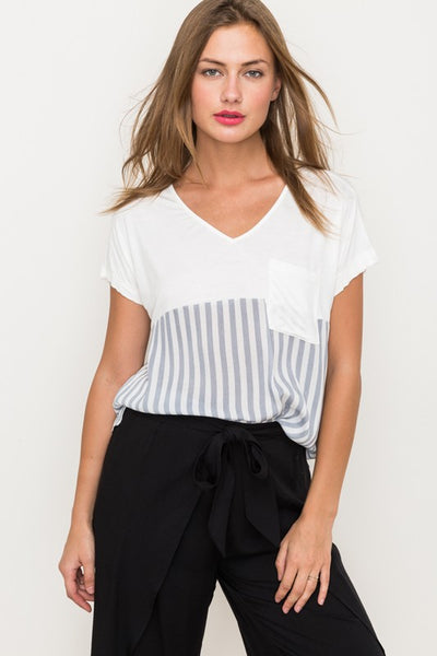 Stripe Mix Top