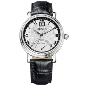 Jiusko Watch,Men's-Dress-Quartz-Leather-50m-103LS0102
