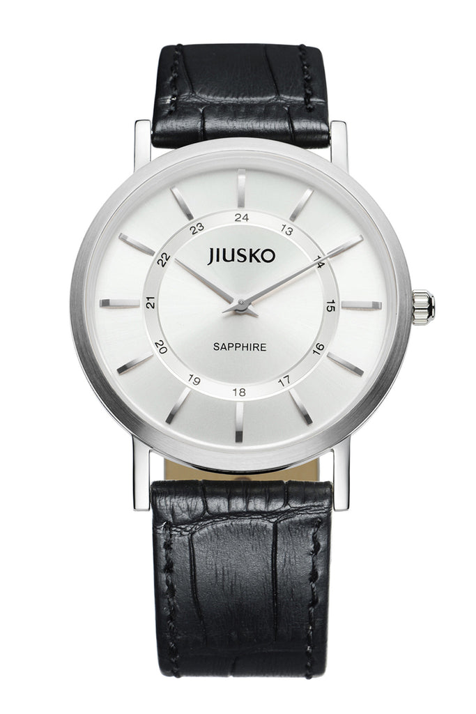 Jiusko Watch,Men's-Dress-Quartz-Leather-30m-112M0102