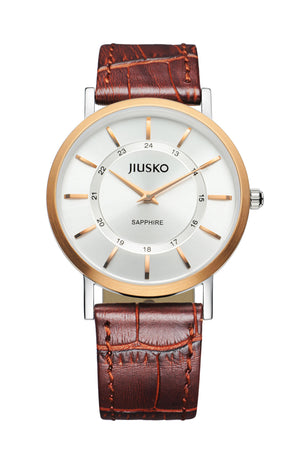 Jiusko Watch,Men's-Dress-Quartz-Leather-30m-112MRG0107