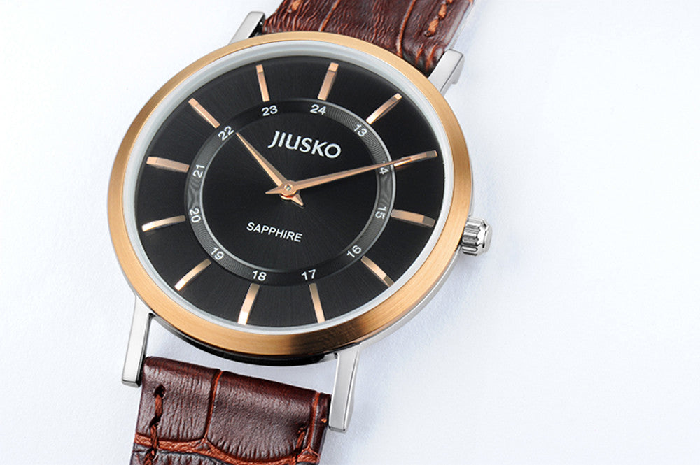 Jiusko Watch,Men's-Dress-Quartz-Leather-30m-112MRG0207