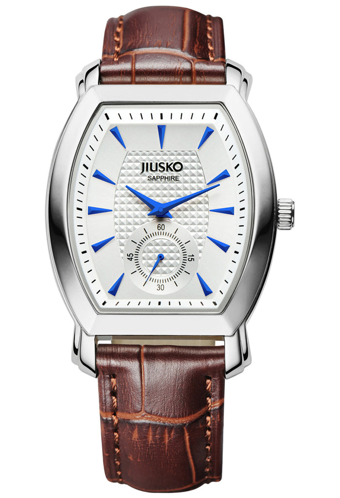 Jiusko Watch,Men's-Dress-Quartz-Leather-Fashion-Multi-Function-30m-121L0107