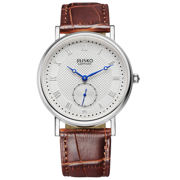 Jiusko Watch,Men's-Dress-Quartz-Leather-30m-132MS0107