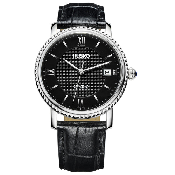 Jiusko Watch,Men's-Dress-Fashion-Automatic-Leather-50m-140M0202