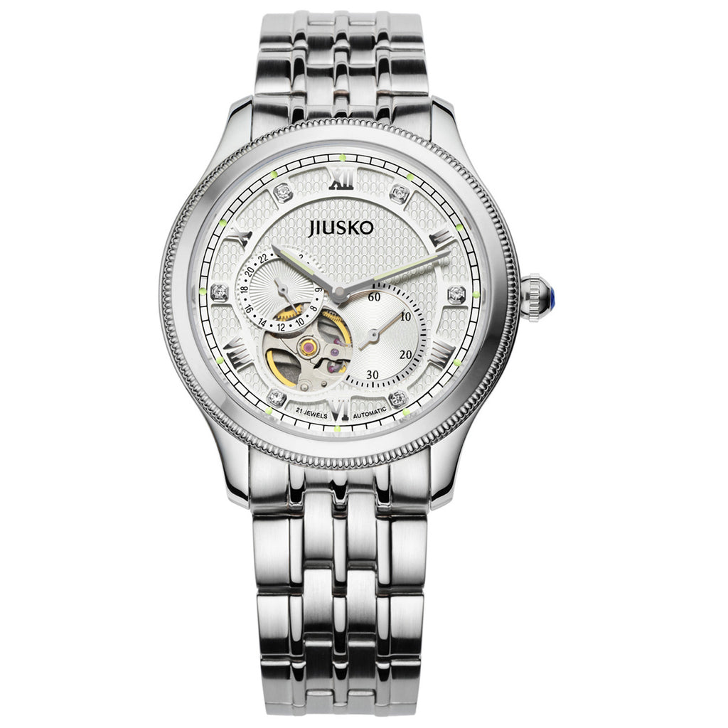 Jiusko Watch,Men's-Dress-Fashion-Automatic-Stainless Steel-100m-151LS01