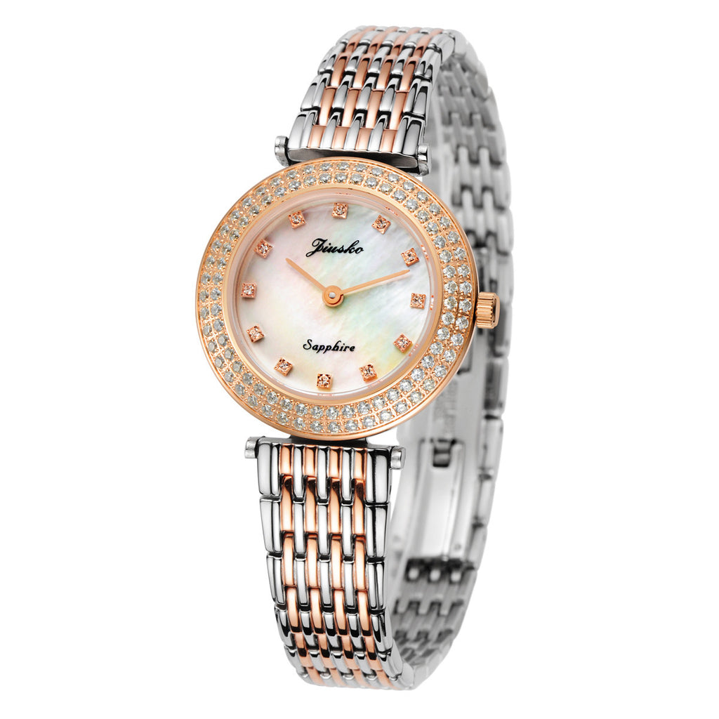 Jiusko Watch,Women's-Dress- Fashion- Stainless Steel- Quartz-30m-162SRG01