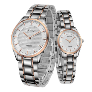 Jiusko Watch,Men's-Women-Dress-Fashion-Quartz-Two Tone Tungsten-50m-201LSBRG01.2