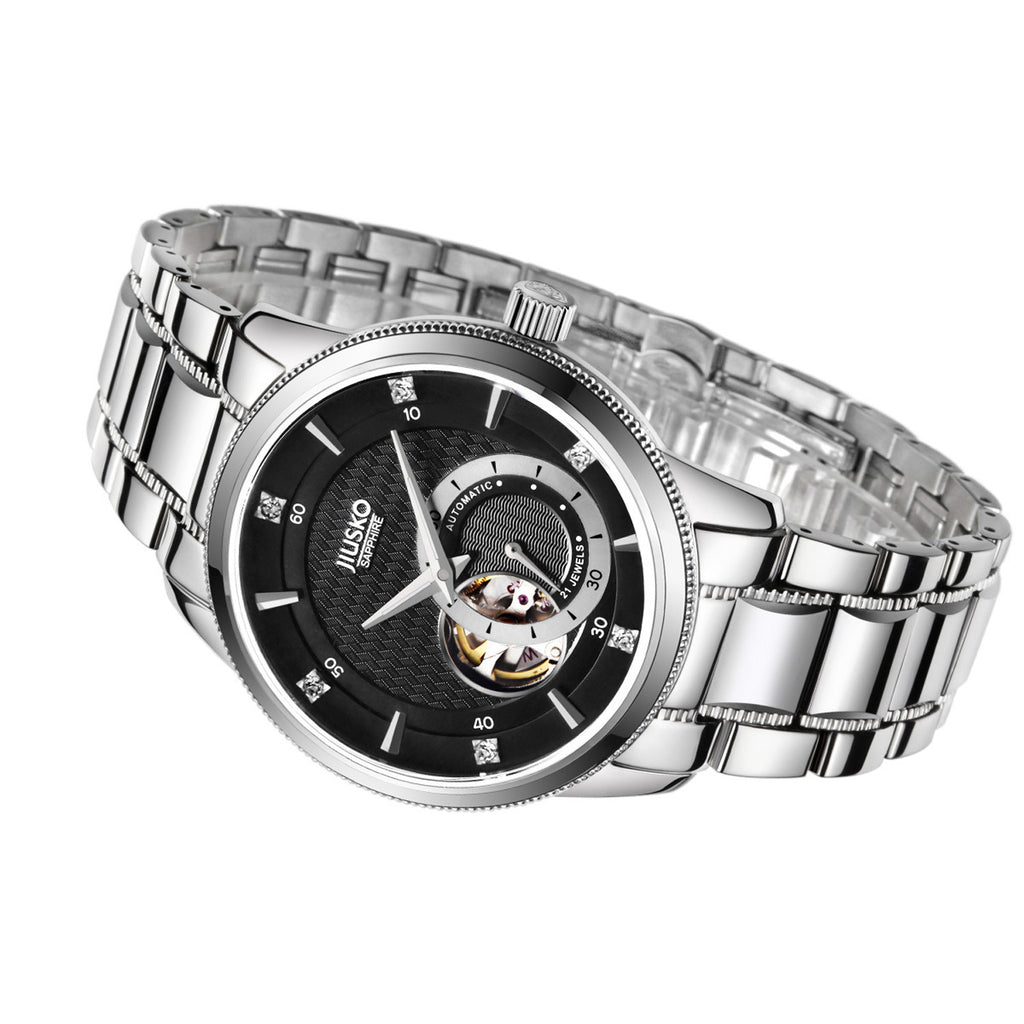 Men's, Dress, Auto, Tungsten, Multi-Function, 100M, 202LSB02