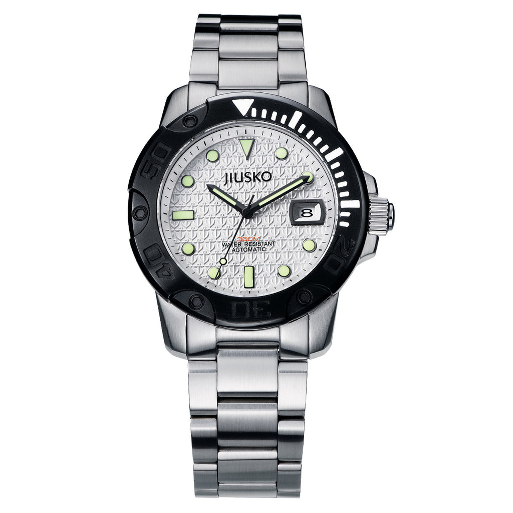Jiusko Watch,Men's-Sport-Casual-Automatic-Stainless Steel-300mm-33LSB01