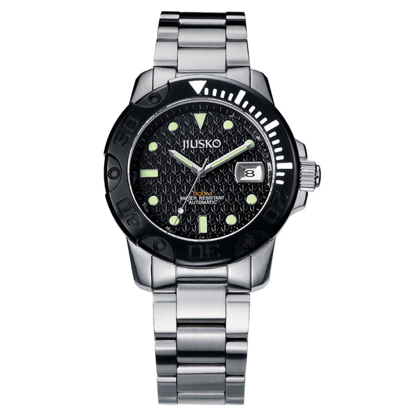 Jiusko Watch,Men's-Sport-Casual-Automatic-Stainless Steel-300mm-33LSB02