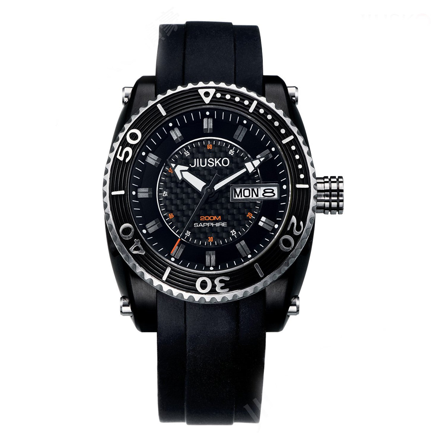 Jiusko Watch,Men's-Sport-Casual-Quartz-Silicone-300mm-38LB0202