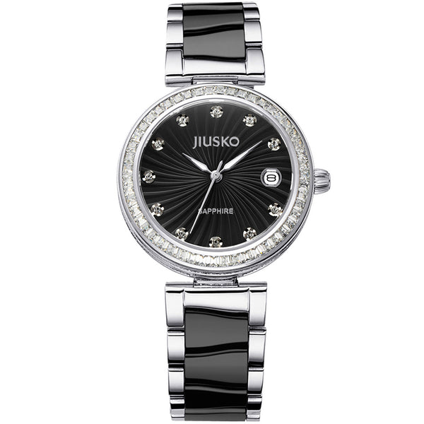 Jiusko Watch,Women's-Dress-Fashion-Ceramic-Stainless Steel-Quartz-50m-41MB02