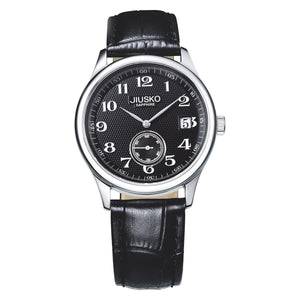 Jiusko Watch,Men's-Dress-Quartz-Leather-50m-43LS0202